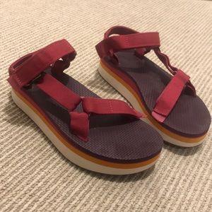 Platform Wedge Teva Sandals